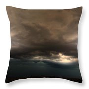 052913 - Severe Storms Over South Central Nebraska Throw Pillow