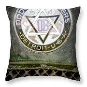 1923 Dodge Brothers Depot Hack Emblem Throw Pillow