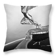 1932 Auburn 12-160 Speedster Hood Ornament Throw Pillow