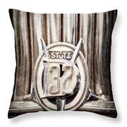 1933 Stutz Dv-32 Five Passenger Sedan Emblem Throw Pillow