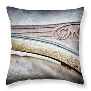 1938 Gmc Hood Ornament Throw Pillow