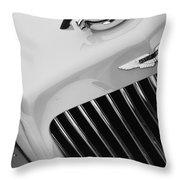 1939 Aston Martin 15-98 Abbey Coachworks Swb Sports Grille Emblem Throw Pillow