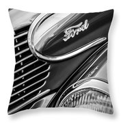 1939 Ford Woody Wagon Side Emblem Throw Pillow