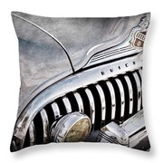 1947 Buick Eight Super Grille Emblem Throw Pillow