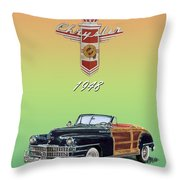1948 Chrysler Town And Country Throw Pillow