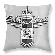 1948 Chrysler Town And Country Sedan Emblem Throw Pillow