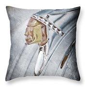 1948 Pontiac Hood Ornament Throw Pillow