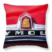 1949 Plymouth P-18 Special Deluxe Convertible Emblem Throw Pillow by Jill Reger