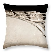 1950 Plymouth Hood Ornament Throw Pillow