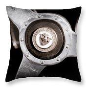 1951 Jaguar Steering Wheel Emblem Throw Pillow