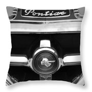 1951 Pontiac Streamliner Grille Emblem Throw Pillow