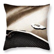 1953 Aston Martin Db2-4 Bertone Roadster Hood Emblem Throw Pillow