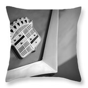 1954 Cadillac Coupe Deville Emblem Throw Pillow
