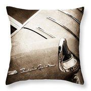 1955 Chevrolet Nomad Wagon Taillight Emblem Throw Pillow