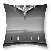 1955 Pontiac Safari Hood Ornament Throw Pillow