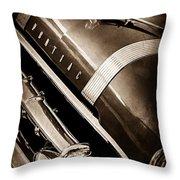 1955 Pontiac Star Chief Grille Emblem - Hood Ornament Throw Pillow