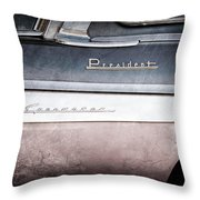 1955 Studebaker President Emblems Throw Pillow by Jill Reger