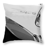 1956 Chevrolet Belair Nomad Taillight Emblem Throw Pillow
