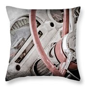 1956 Ford Thunderbird Steering Wheel Throw Pillow