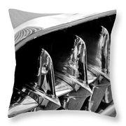 1957 Chevrolet Corvette Grille Throw Pillow