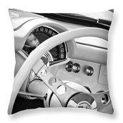1957 Chevrolet Corvette Steering Wheel Emblem Throw Pillow