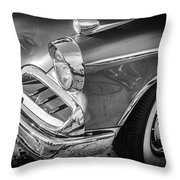 1957 Studebaker Golden Hawk Bw  Throw Pillow