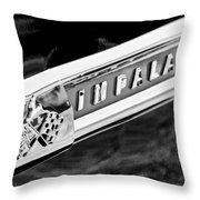1959 Chevrolet Impala Emblem Throw Pillow