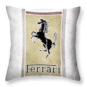 1959 Ferrari 250 Gt Emblem Throw Pillow