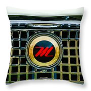 1959 Nash Metropolitan Grille Emblem Throw Pillow