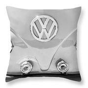 1959 Volkswagen Vw Panel Delivery Van Emblem Throw Pillow