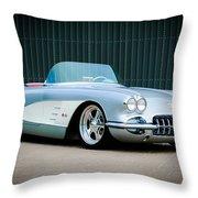 1960 Chevrolet Corvette Throw Pillow