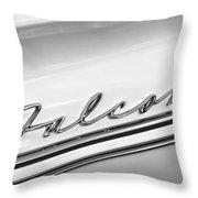 1963 Ford Falcon Futura Convertible   Emblem Throw Pillow