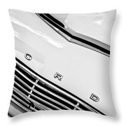 1963 Ford Falcon Futura Convertible Hood Emblem Throw Pillow