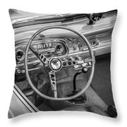 1963 Ford Falcon Sprint Convertible Bw  Throw Pillow