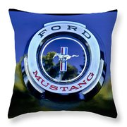 1965 Shelby Prototype Ford Mustang Emblem Throw Pillow