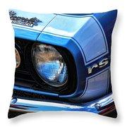 1967 Chevy Camaro Rs Throw Pillow