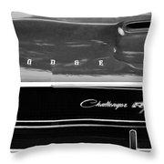 1970 Dodge Challenger Rt Convertible Grille Emblem Throw Pillow
