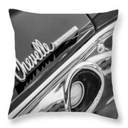 1972 Chevrolet Chevelle Taillight Emblem Throw Pillow