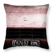 1972 Ferrari 365 Gtb-4a Grille Emblem Throw Pillow