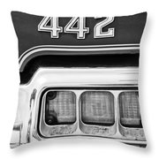 1972 Oldsmobile 442 Taillight Emblem Throw Pillow