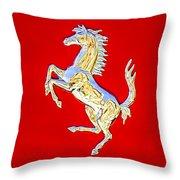 1999 Ferrari 550 Maranello Stallion Emblem Throw Pillow