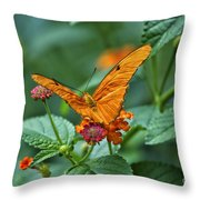 3 2 1 Prepare For Butterfly Liftoff Throw Pillow