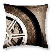 2005 Lotus Elise Wheel Emblem Throw Pillow