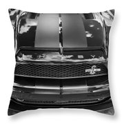2008 Ford Shelby Mustang Gt500 Kr Painted Bw  Throw Pillow