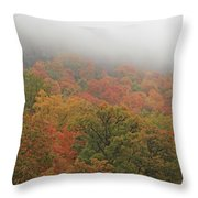A Foggy Autumn Day At The United States Military Academy At West Throw Pillow