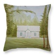 A North Carolina Church Throw Pillow