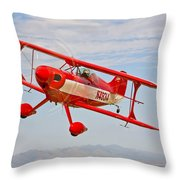 A Pitts Special S-2a Aerobatic Biplane Throw Pillow