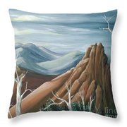 Above The Tundra Line Throw Pillow