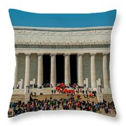 Abraham Lincoln Memorial In Washington Dc Usa Throw Pillow