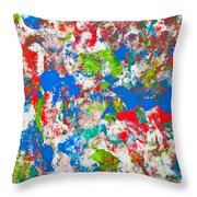 Abstract Colorful Painting Background Throw Pillow